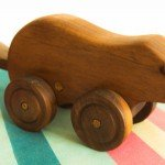 A wooden toy, with a flapping tail by knightlylad
