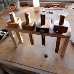 Oak Marking Gauge Rack by Gary Blair