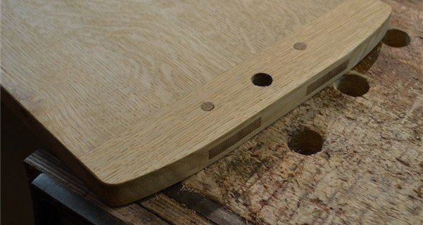 Our current project is a Breadboard-end Cutting Board (June-July)