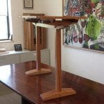 Mahogany Trestle table by Orestes Valella