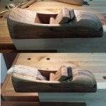 Tigerwood krenov style wood plane by Haim Hen