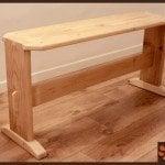 Reclaimed wood hallway bench by Nir B