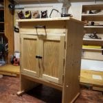 Small cabinet made from pine and finished with shellac