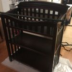 "For this custom heirloom piece I used mahogany stained a dark chocolate brown to match an existing crib. The style is a combination of Craftsman mixed with a heavy one-piece crest. To make the crest, a 12 degree arc defines the lines. The profile was routed on a table to achieve the same profile as the crib's rail. The joinery was achieved using a Festool Domino, but mortise and tenon could also be a good option. Each of the shelves are 1/4"" mahogany plywood edged with solid mahogany. Severa"