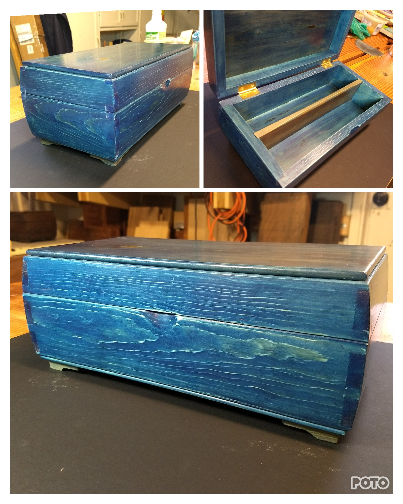 Keepsake Box (Blue) by Peter Bernhardt