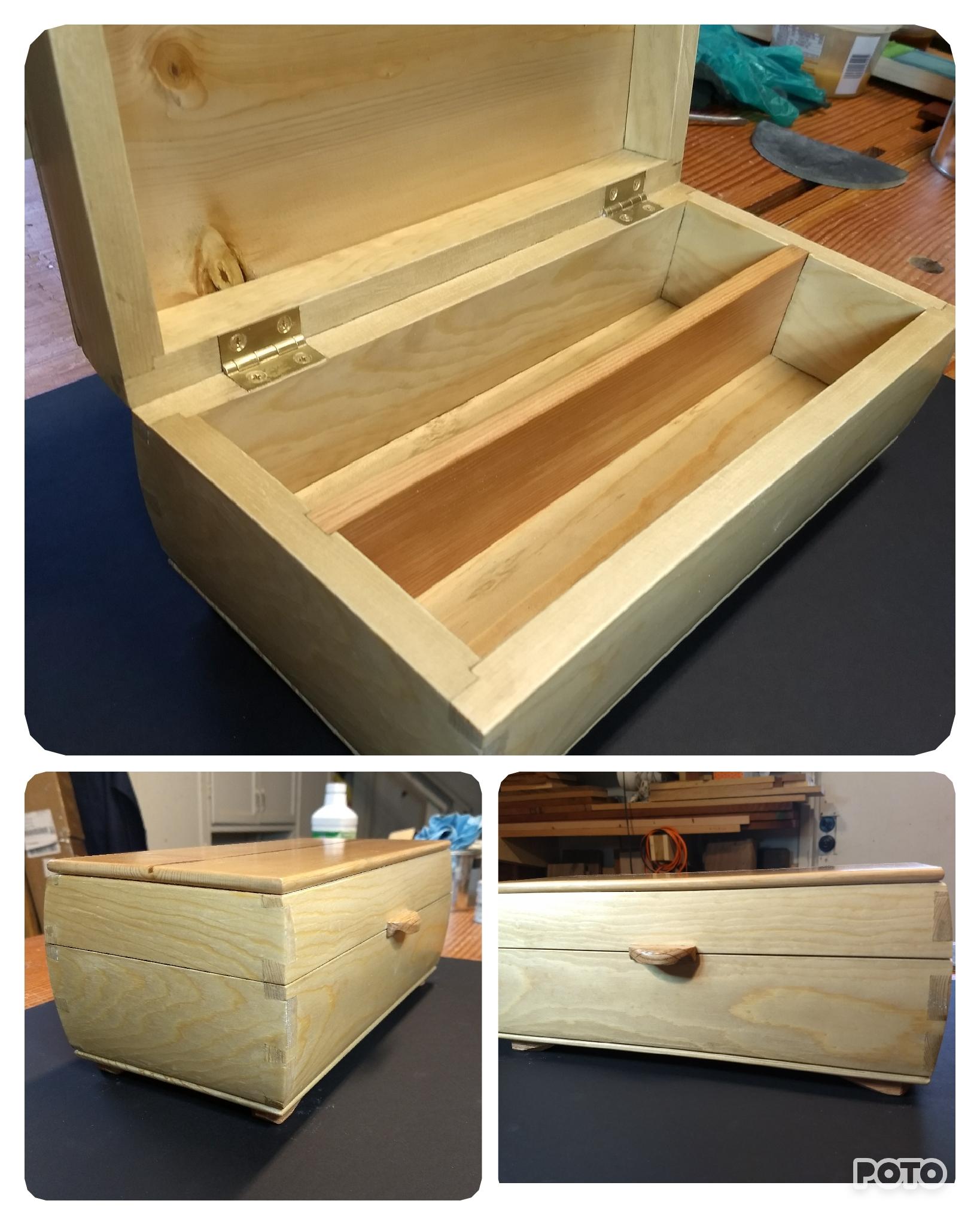 Keepsake Box (White Pine) by Peter Bernhardt