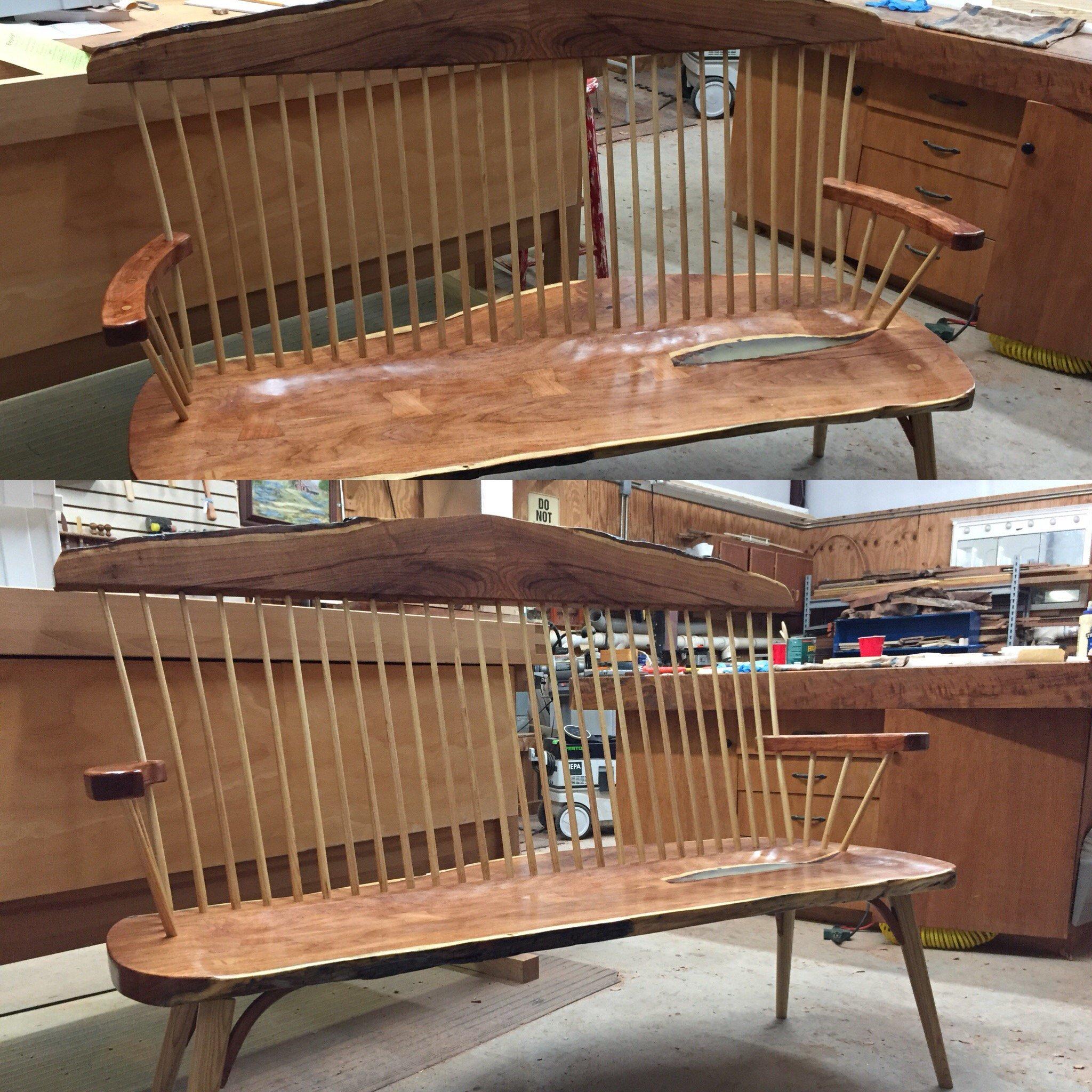Shaker-style Bench Seat by John Pronsky