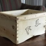 kindling box, pine with linseed oil and wax