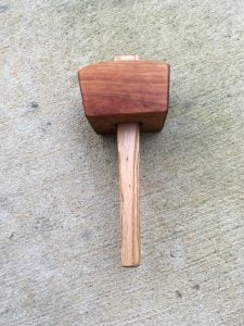Joiner's Mallet in Cherry, Oak Handle