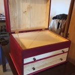 Tool chest Chalk paint finish