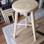 Three legged bench stool in pine adapted from Paul's three legged milking stool