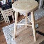 Three legged bench stool in pine adapted from Paul's three legged milking stool