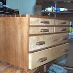 North Bennett St School tool chest. Cherry and poplar.