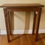 Walnut Floating top table draw bore peg joints