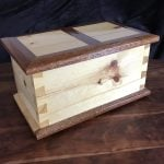 Pine box with Mahogany trim Shellac finish