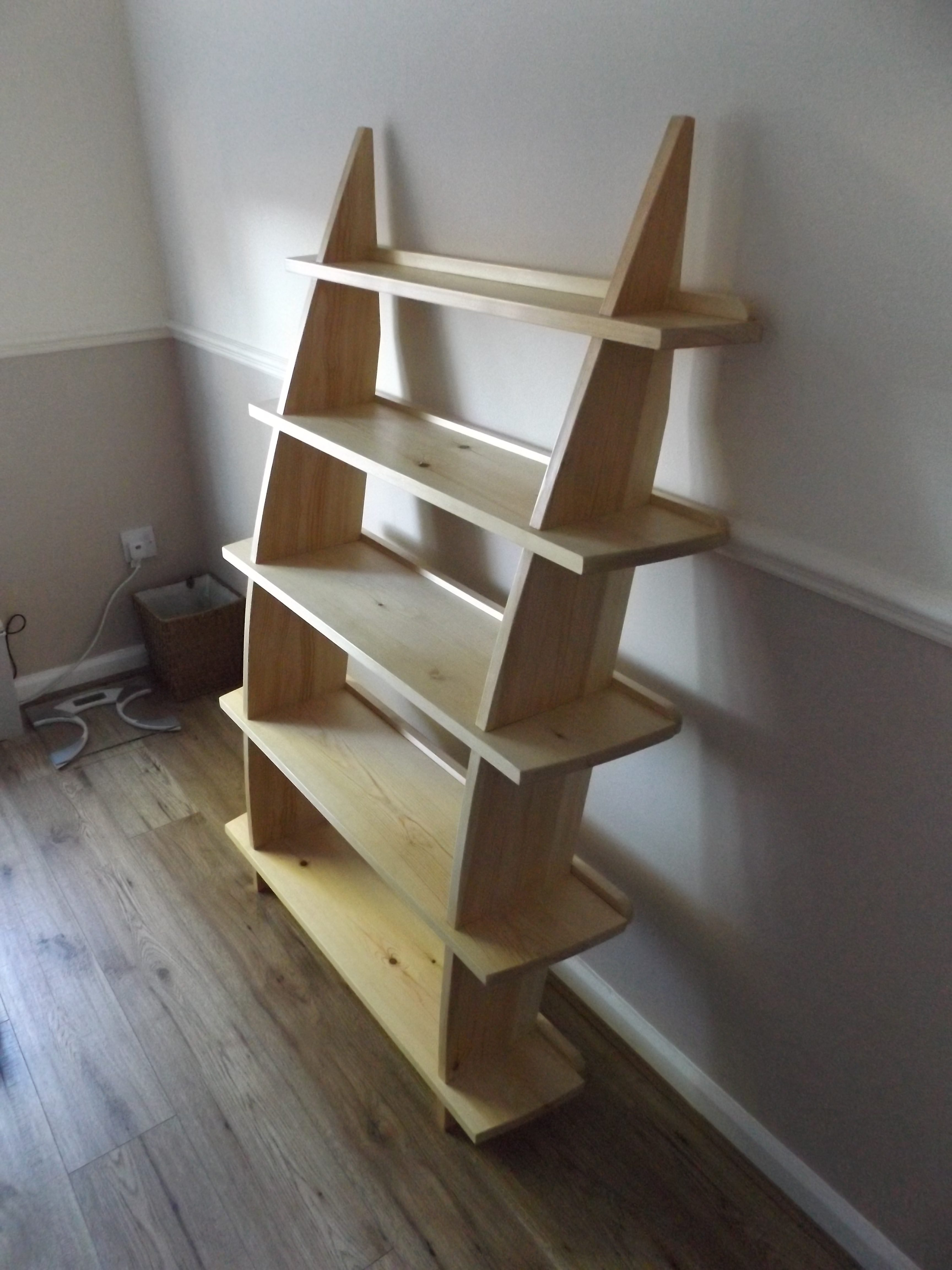 Leaning Wall Shelf by Nick Kerr