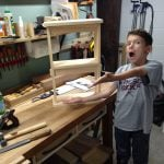 Another picture of my grandson part way through the build having a good time woodworking with Papa! Thanks again.