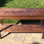 "Walnut sofa table 54""L x 15""W x 30""T"