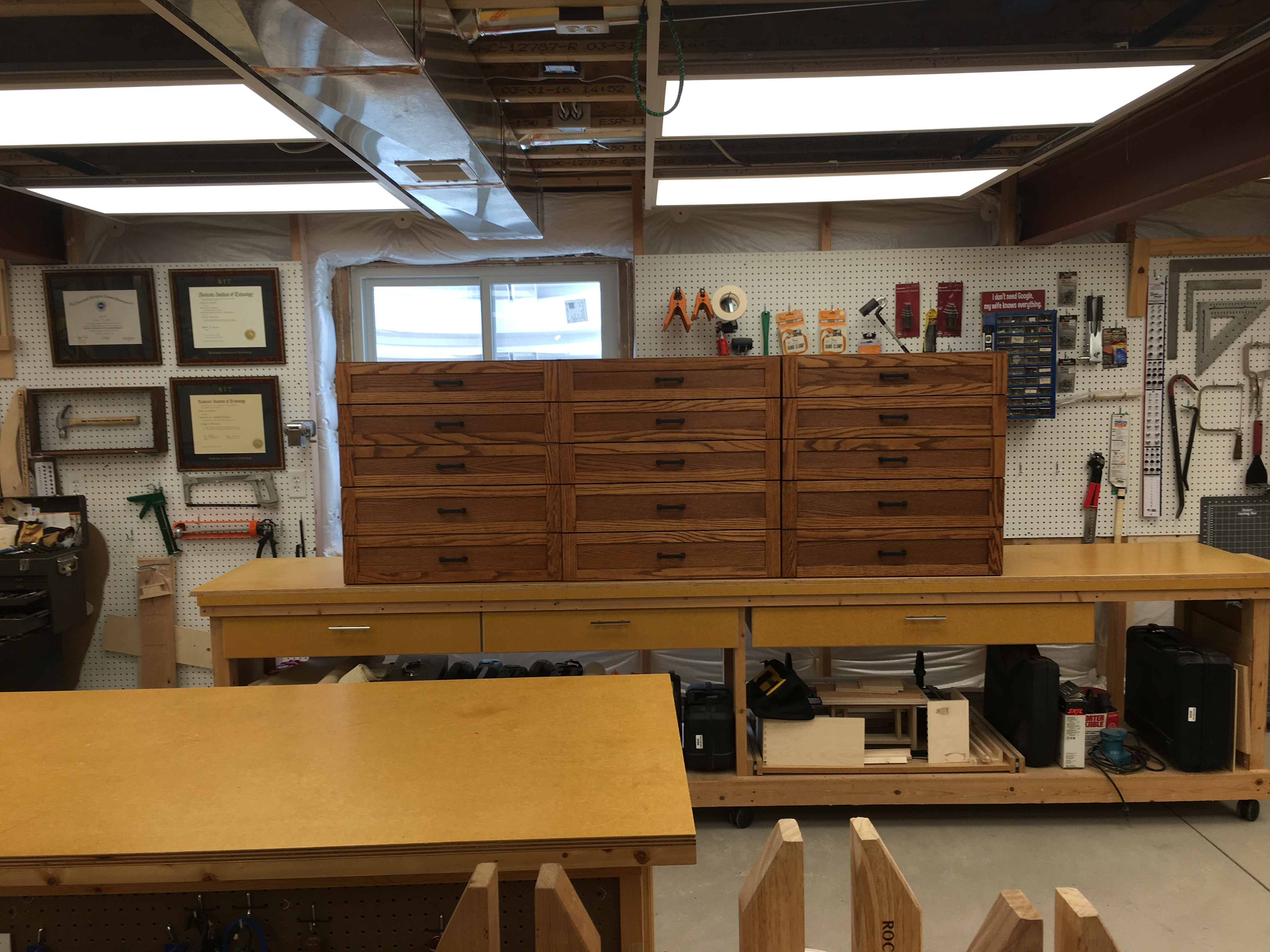 11 drawer sewing cabinets by James Jones