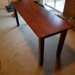 "24"" w by 72"" by 36"" h sofa table quarter sawn white oak"