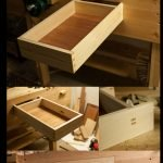 Workbench Drawer, made from redwood pine, the only part I changed was to use a double tenon instead of wedged tenon on the back piece, the bottom is made from solid sapele, it gets used a lot.