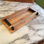 Wooden tray. Locust tree from my back yard in Kentucky. Ebony from Africa. Paul Sellers' design and construction methods.
