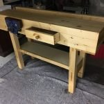 Workbench in fir finished with oil