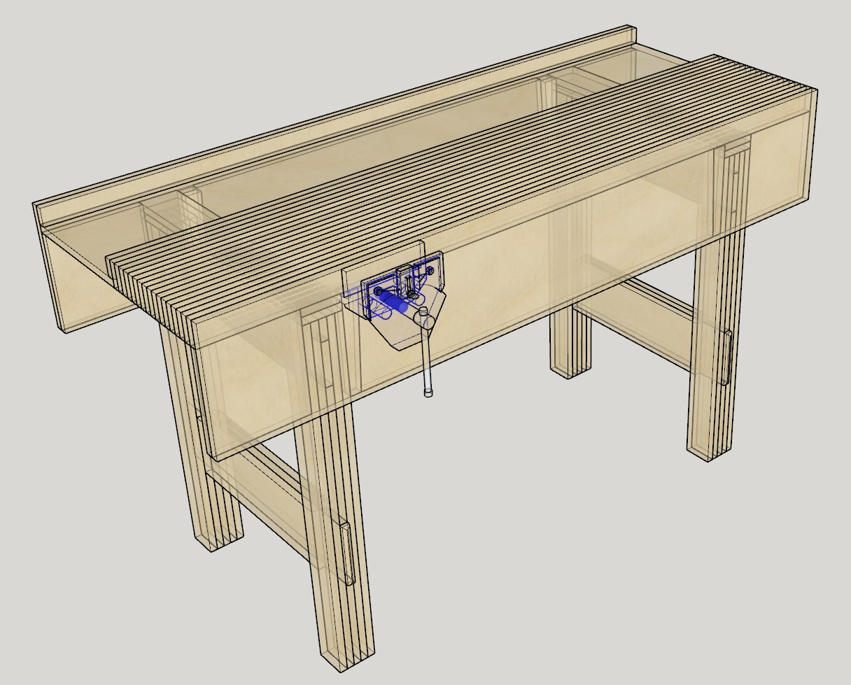 Plywood-Bench-Xray