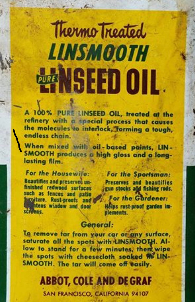 Old fashion linseed oil