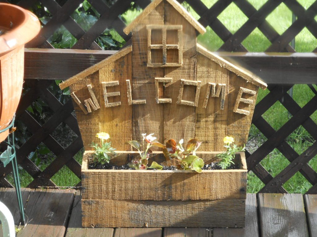 Welcome Planter Box by Harold