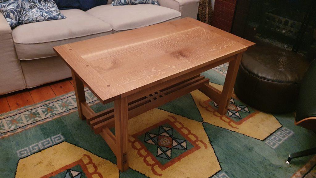 Coffee Table in Oak by philip higgins