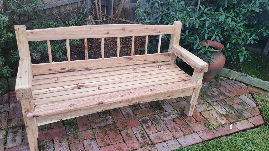 Garden Bench by philip higgins