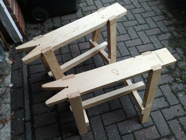 Sawing Benches by Tony Yeates