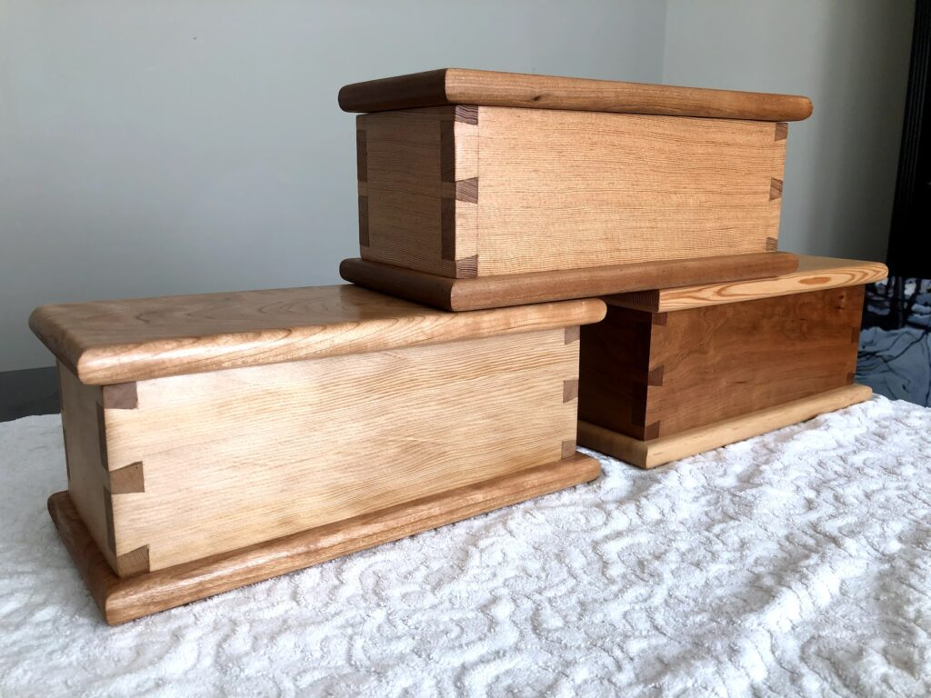 Dovetail Boxes by peter marshall