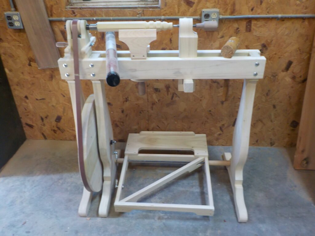 Continuous Motion Treadle Lathe by George Scales