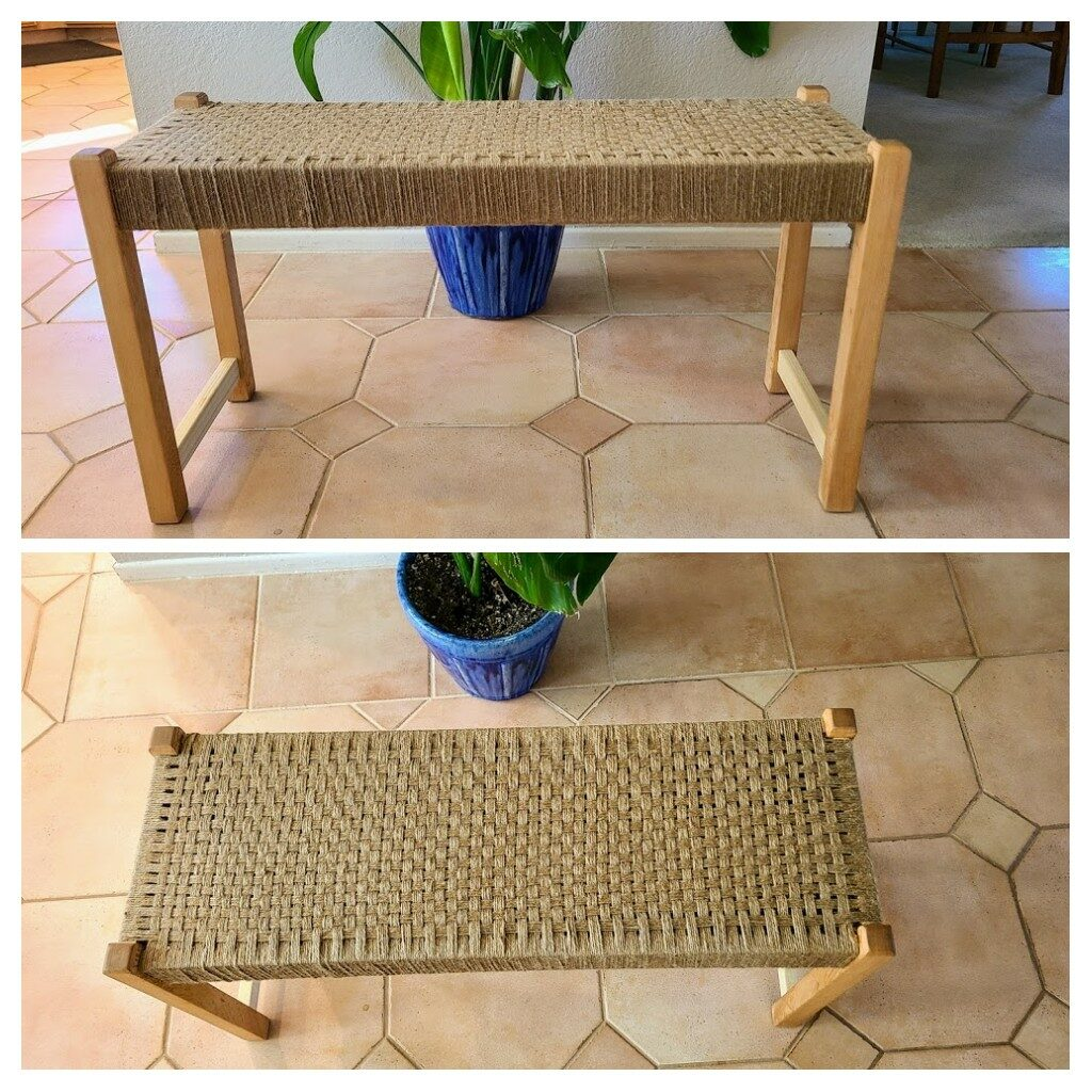 Woven Bench by Jonathan Harris