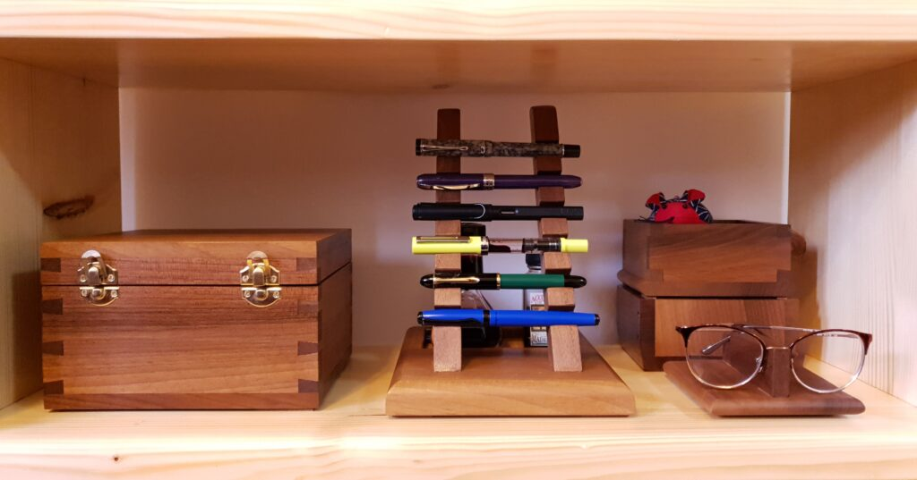 Pen Holder and Set of Boxes by Marija Neskovic