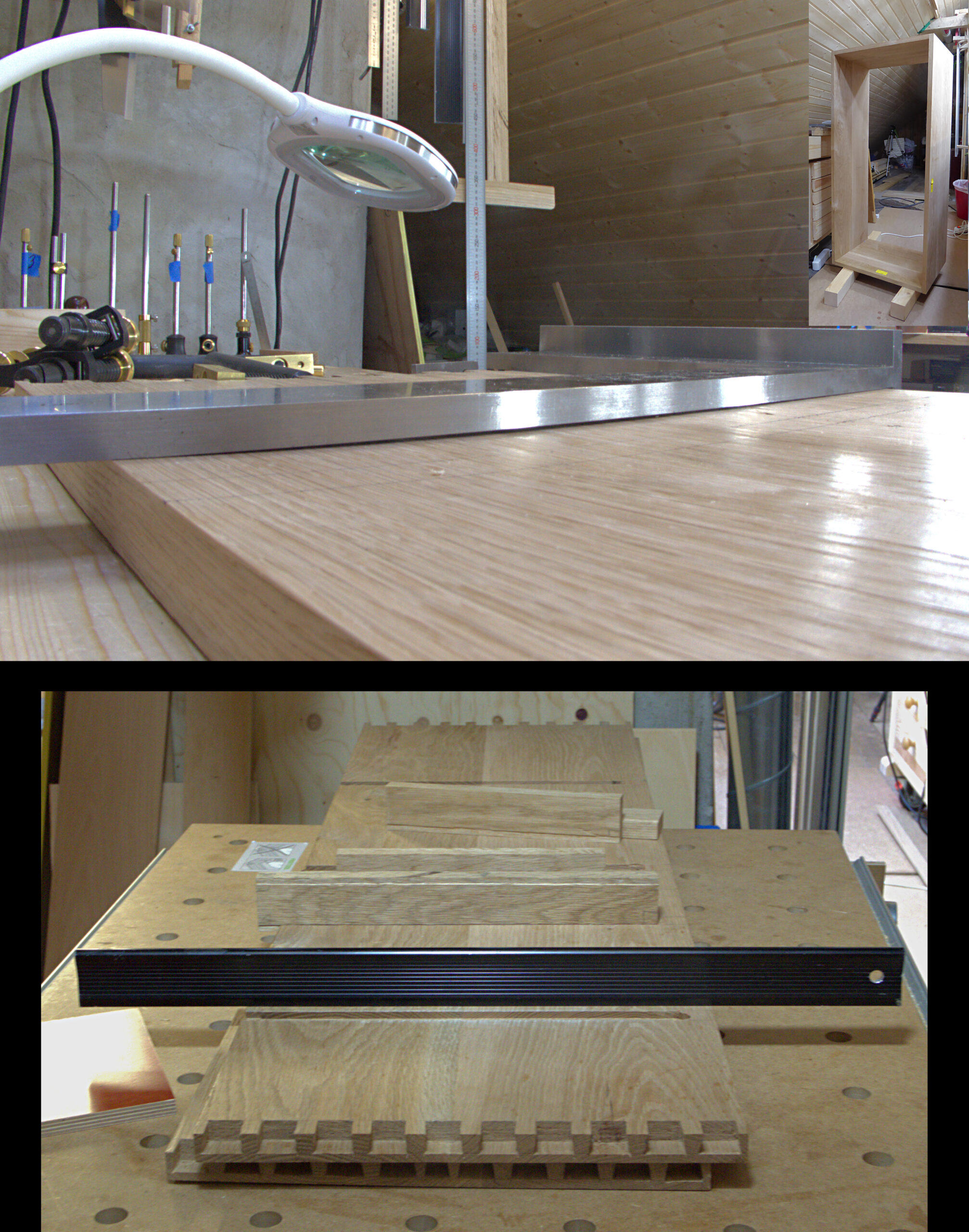 Flattening cabinet sides with drawer runners